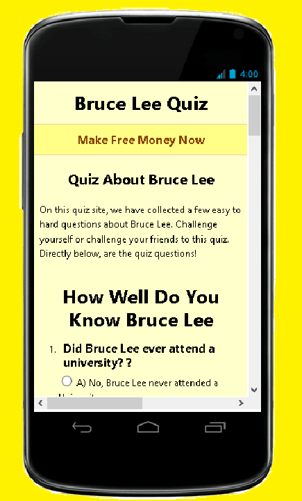 How Well Do You Know Bruce Lee- screenshot