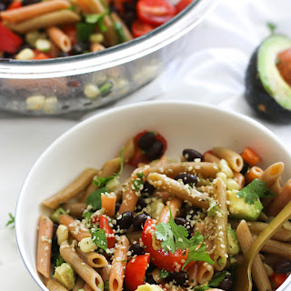 Spicy Black Bean Pasta Salad (V&GF).