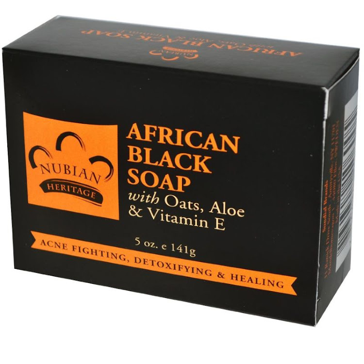 Nubian Heritage, African Black Soap Bar anti acne body soap, 5 oz by Supermodels Secrets