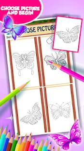 Butterfly omalovánky k vytiskn - náhled
