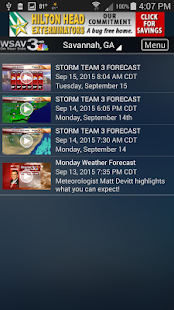 WSAV Weather- screenshot thumbnail