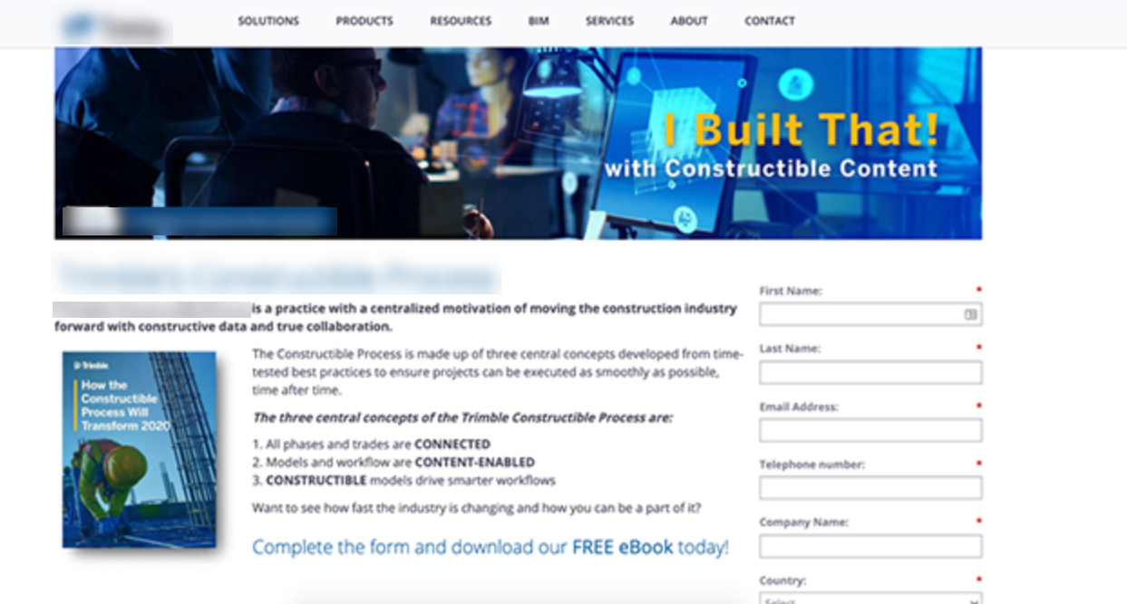 ebook download landing page