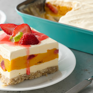 Strawberry-Mango-Lime Ice-Cream Square