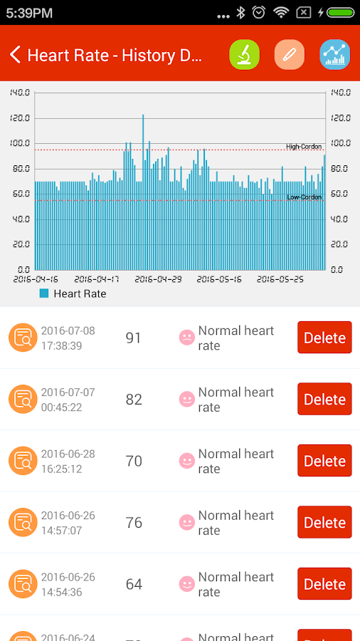 iCare Heart Rate Monitor- screenshot