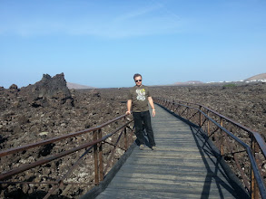 Photo: at the timanfaya visitors center