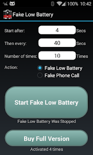 Fake Low Battery- screenshot thumbnail