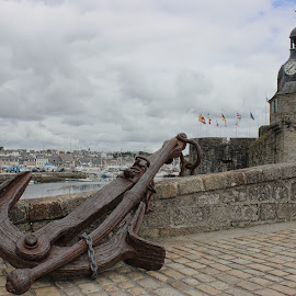 The Old Anchor by Carol Lauderdale - Artistic Objects Antiques ( concarneau, france, anchors, brittany, boating  antiques )