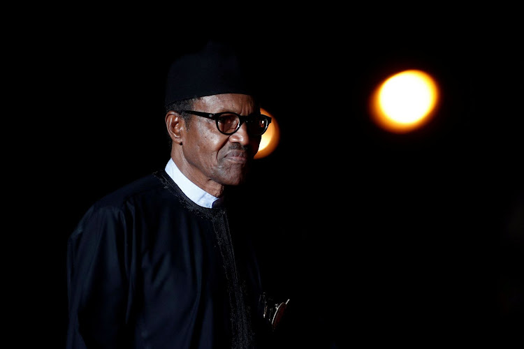 Nigerian President Muhammadu Buhari arrives to attend a visit and a dinner at the Orsay Museum on the eve of the commemoration ceremony for Armistice Day in this file photo taken in Paris, France, on November 10 2018. Picture: REUTERS/BENOIT TESSIER
