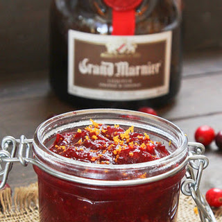 Maple Orange Cranberry Sauce with a Touch of Grand Marnier