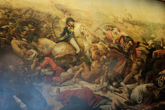 Photo: Detail of a wall sized painting of Napoleon