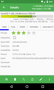 PTorrent Pro - torrent application Screenshot