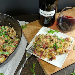 Pineapple and Bacon Chicken Sausage with Fruited Couscous.