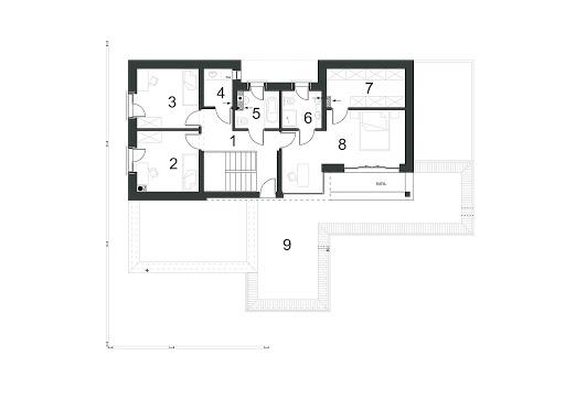 Komfortowy D15 - Rzut piętra