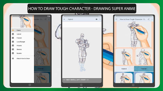 How to Draw Tough Character - Drawing Super Anime 1.0 APK + Mod (Free purchase) إلى عن على ذكري المظهر
