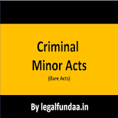 Criminal Minor Acts (Bare Acts)