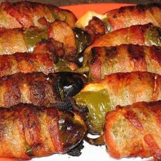 Jalapeno Poppers Wrapped with Bacon.