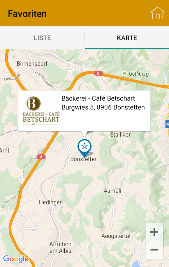 Cityguide Bonstetten- screenshot