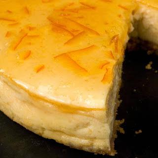 Orange-Vanilla Ricotta Cheesecake.