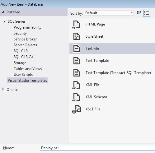 Adding a Deployment Script