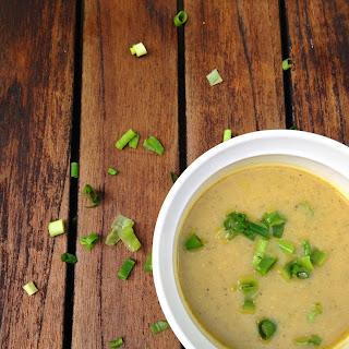 Silky Zucchini & Roasted Cauliflower Ginger Soup.