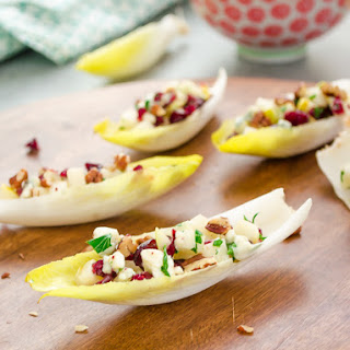 Endive Salad Bites with Pears, Blue Cheese, and Pecans