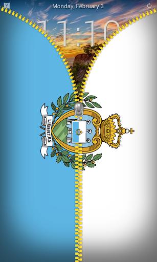 San Marino Flag Zipper Locker