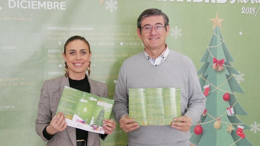 Presentación de las citas navideñas en el Ayuntamiento de Adra.