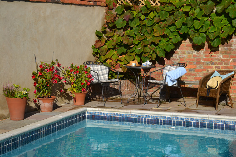Chancery House Bed and Breakfast swimming pool in Tenterden Kent