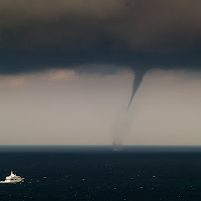 Storm chasers by Daniel Pavlinović - Landscapes Weather ( dubrovnik, croatia, cumulonimbus, gale, storm, tornado, waterspout )