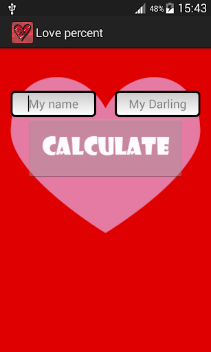 Calculate percentage love.