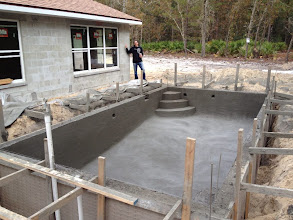 Photo: November 16, 2012 A pool with concrete begins to look like a real, live pool. Photo by Lake Weir Living