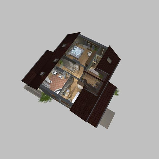 APS 108 - Rzut poddasza 3D