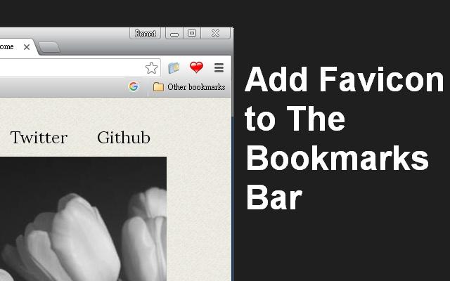 Add Favicon to the Bookmark Bar