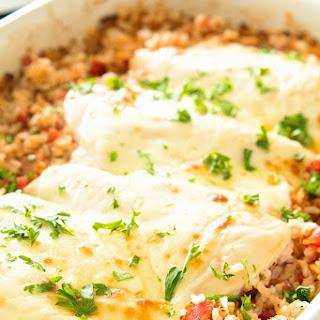 Cheesy Italian Chicken and Rice Casserole.