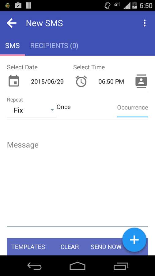 Auto SMS Sender- screenshot