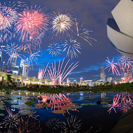 by Supriadi Lee - Abstract Fire & Fireworks ( singapore, city )