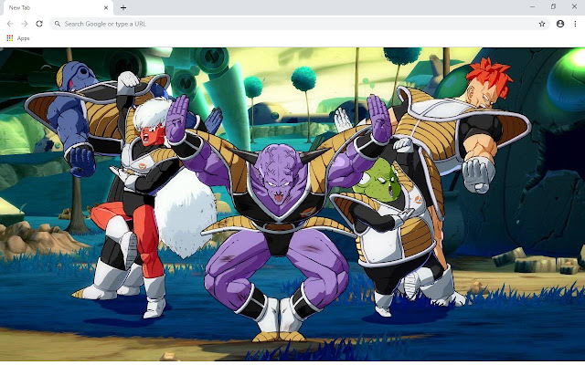 DragonBall Fighter Z Wallpapers and New Tab