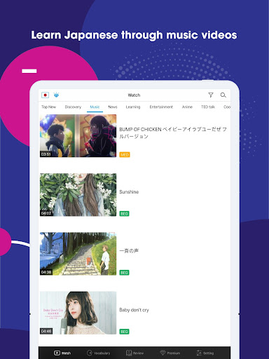 Listening Japanese, Chinese and English: Voiky screenshots 13