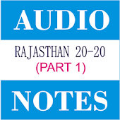Rajasthan 20-20 Audio Notes 1