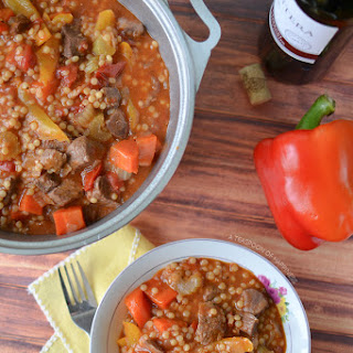 Italian Beef Stew with Israeli Couscous Recipe