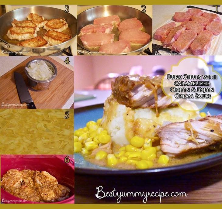 Pork Chops and Dijon Cream Sauce Recipe | Yummly