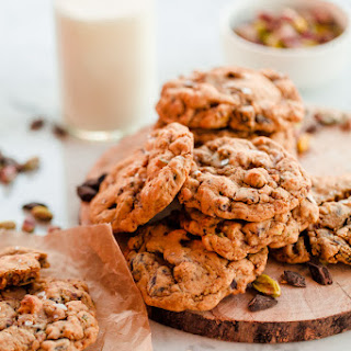 Orange Salted Pistachio Chocolate Chunk Cookies