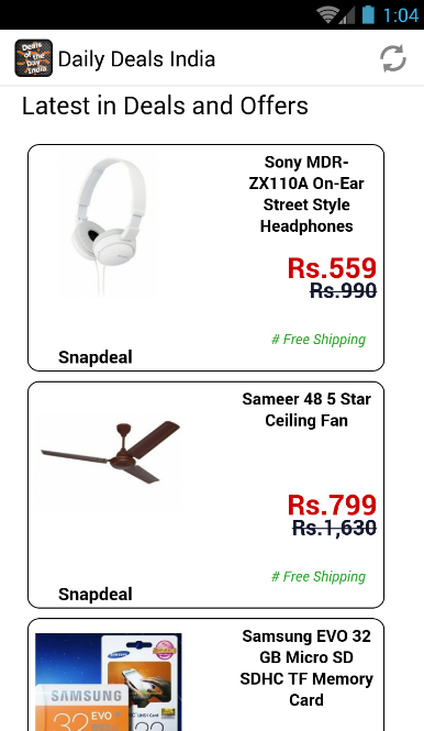 Daily Deals India- screenshot