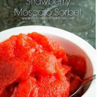 Strawberry Moscato Sorbet #SundaySupper Recipe