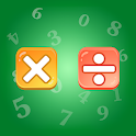 Multiplication and Division Tables. Training. icon