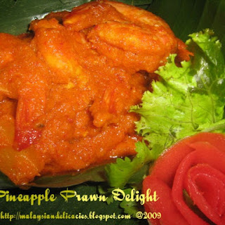 Pineapple Prawn Delight.