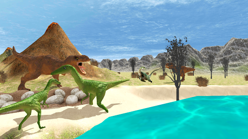 Télécharger Hungry Dinosaur Games Simulator Dino Attack 3D mod apk screenshots 4