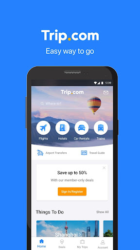 Trip.com: Flights, Hotels, Trains & Travel Deals 6.10.6 screenshots 1