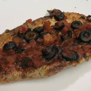 Baked Pork Chops Puttanesca.