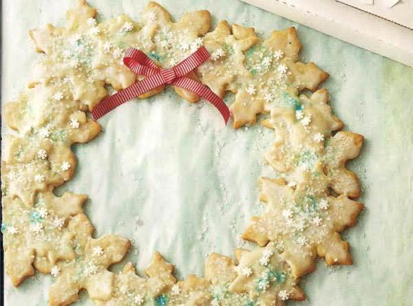 Snowflake Cookie Wreath Recipe